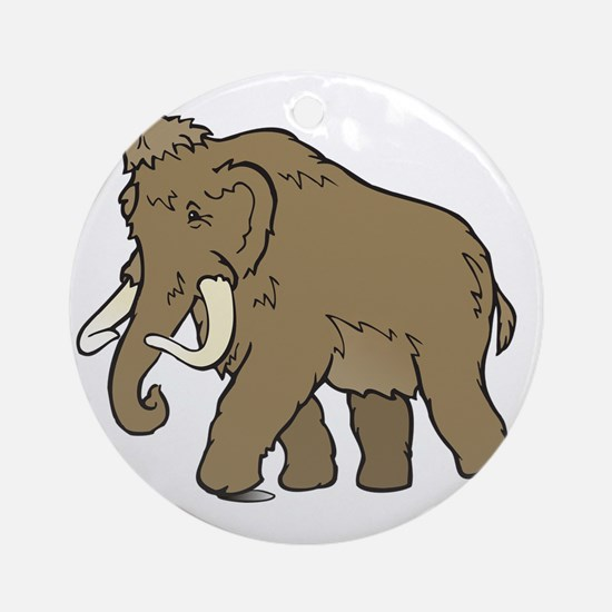 Cute Woolly Mammoth Ornament (Round)