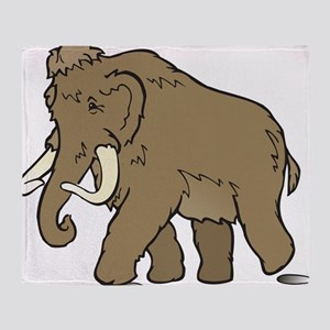 Cute Woolly Mammoth Throw Blanket