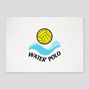 WATER POLO WAVES 5'x7'Area Rug