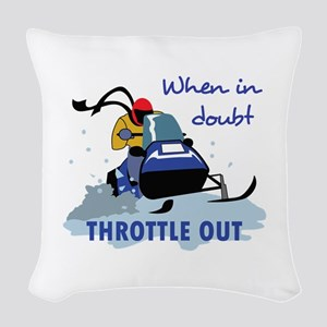 THROTTLE OUT Woven Throw Pillow