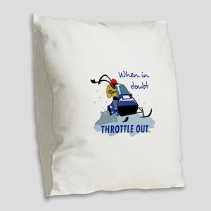 THROTTLE OUT Burlap Throw Pillow