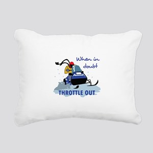 THROTTLE OUT Rectangular Canvas Pillow