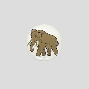 Cute Woolly Mammoth Mini Button