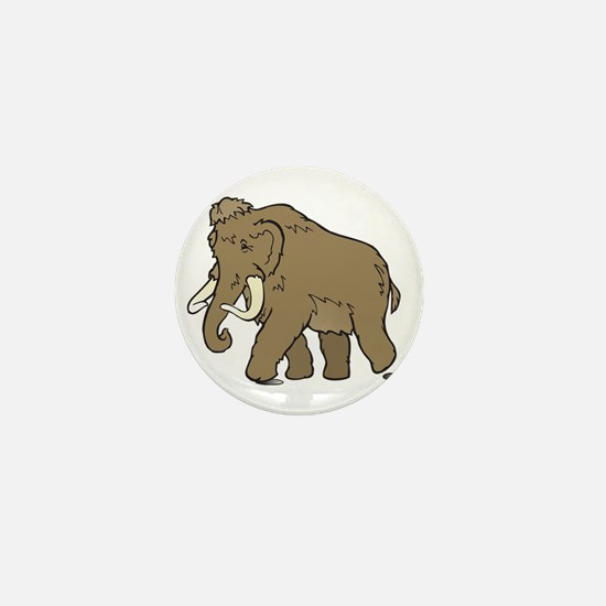 Cute Woolly Mammoth Mini Button