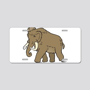 Cute Woolly Mammoth Aluminum License Plate