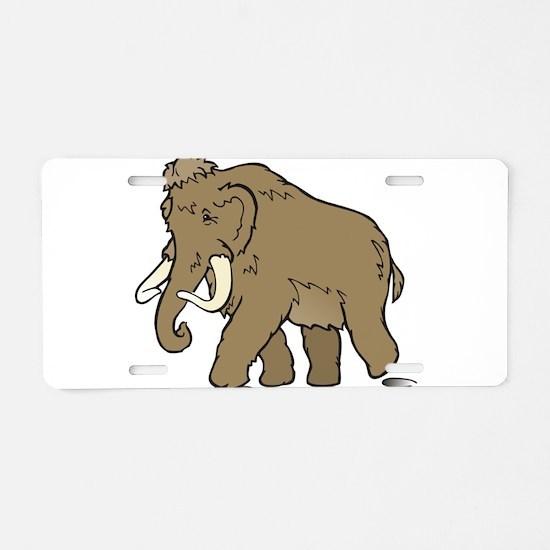 Cute Woolly Mammoth Aluminum License Plate