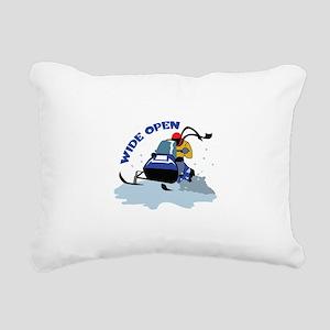 WIDE OPEN Rectangular Canvas Pillow