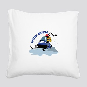 WIDE OPEN Square Canvas Pillow