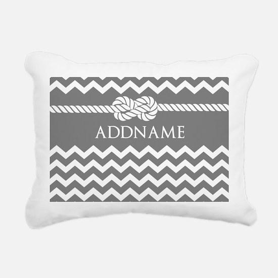Gray and Charcoal Modern Rectangular Canvas Pillow