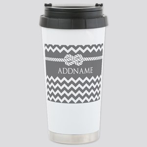 Gray and Charcoal Moder Stainless Steel Travel Mug