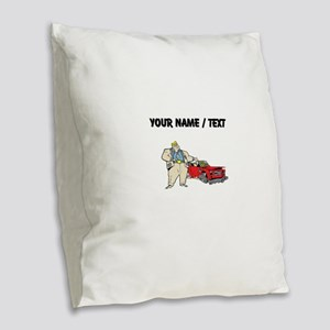 Custom Car Salesman Burlap Throw Pillow