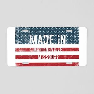 Made in Martinsville, Misso Aluminum License Plate