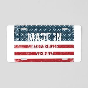 Made in Martinsville, Virgi Aluminum License Plate