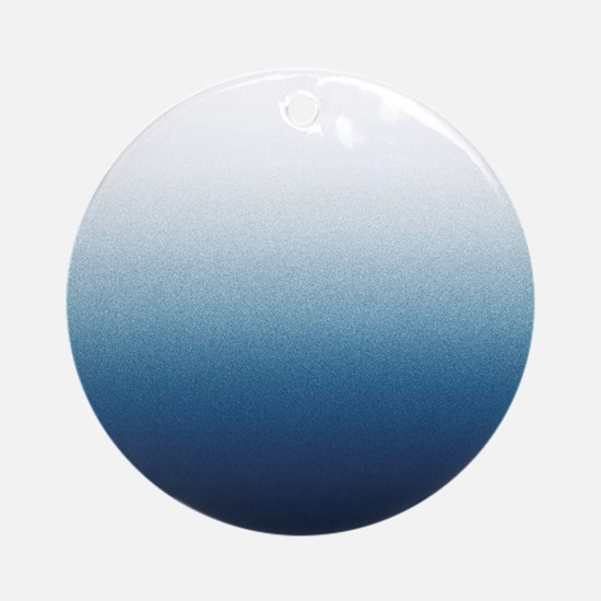 Beautiful Indigo Blue Ombre Ornament (Round)