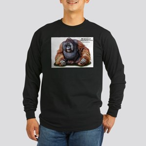 Bornean Orangutan Long Sleeve Dark T-Shirt