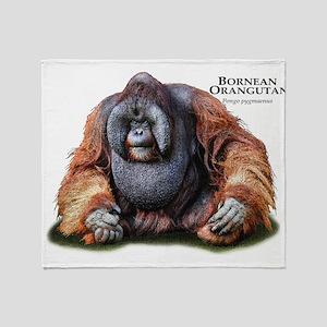 Bornean Orangutan Throw Blanket