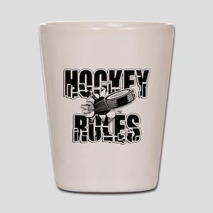 hockey104dark Shot Glass