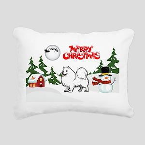 Merry Christmas American Rectangular Canvas Pillow
