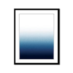 Beautiful Indigo Blue Ombre Framed Panel Print