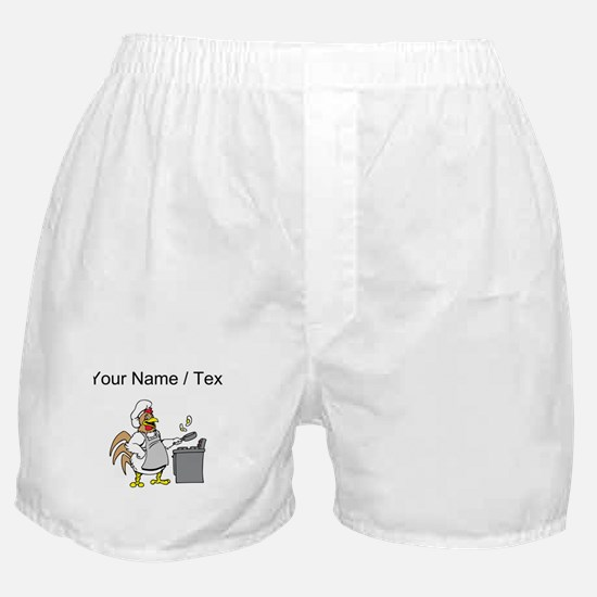 Custom Chicken Flipping Eggs Boxer Shorts