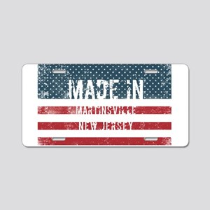 Made in Martinsville, New J Aluminum License Plate