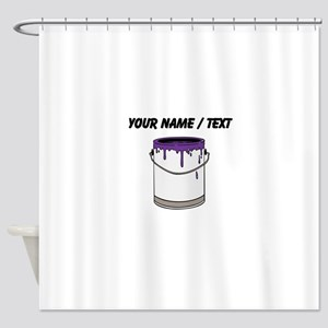 Custom Paint Can Shower Curtain