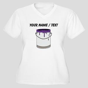 Custom Paint Can Plus Size T-Shirt