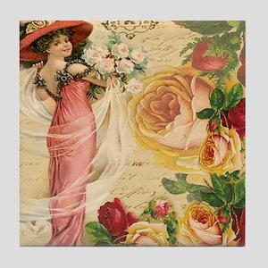 Rose Lady Tile Coaster