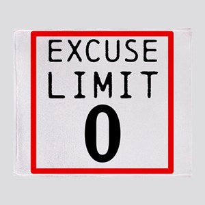 Excuse Limit 0 Throw Blanket