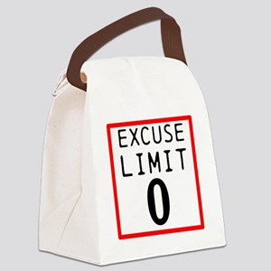 Excuse Limit 0 Canvas Lunch Bag