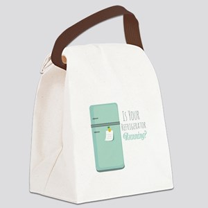 IceBox_IsYourRefrigeratorRunning? Canvas Lunch Bag