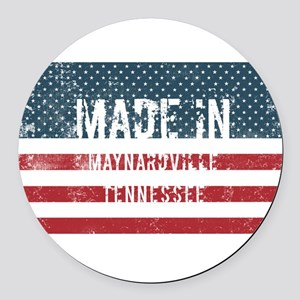 Made in Maynardville, Tennessee Round Car Magnet