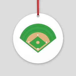 BaseballField_Base Ornament (Round)