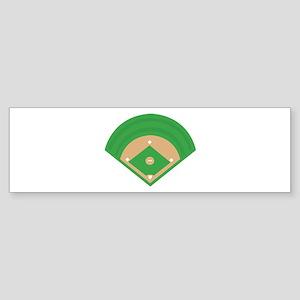 BaseballField_Base Bumper Sticker