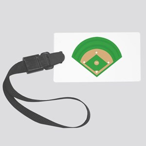 BaseballField_Base Luggage Tag