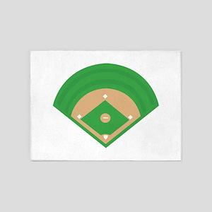 BaseballField_Base 5'x7'Area Rug