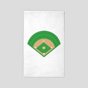 BaseballField_Base Area Rug