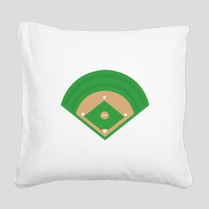 BaseballField_Base Square Canvas Pillow