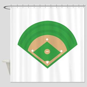 BaseballField_Base Shower Curtain