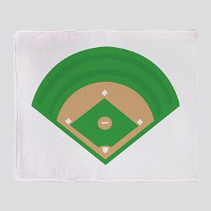 BaseballField_Base Throw Blanket