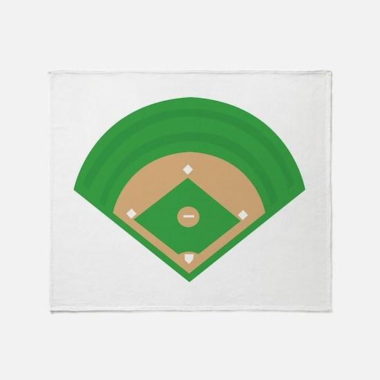 BaseballField_Base Throw Blanket