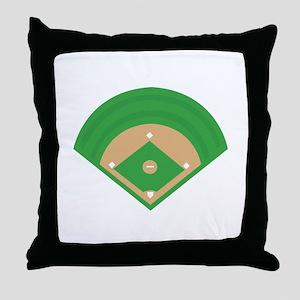 BaseballField_Base Throw Pillow