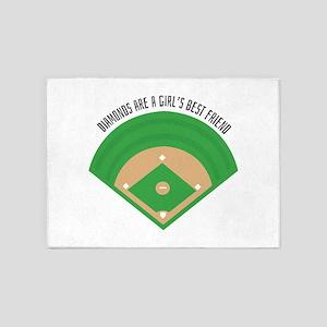 BaseballField_Diamonds 5'x7'Area Rug