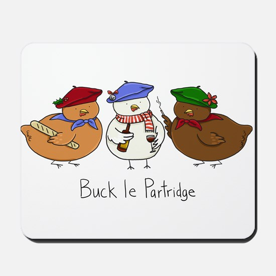Three French Hens Mousepad