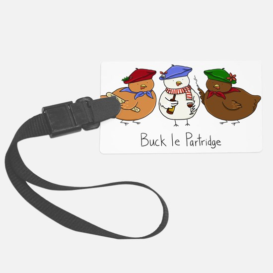 Three French Hens Luggage Tag