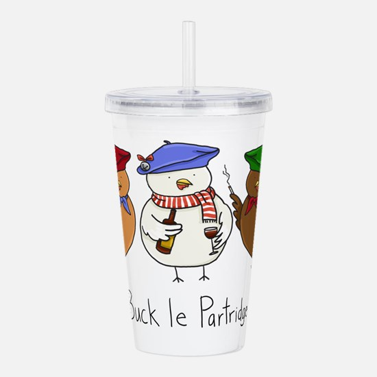 Three French Hens Acrylic Double-wall Tumbler