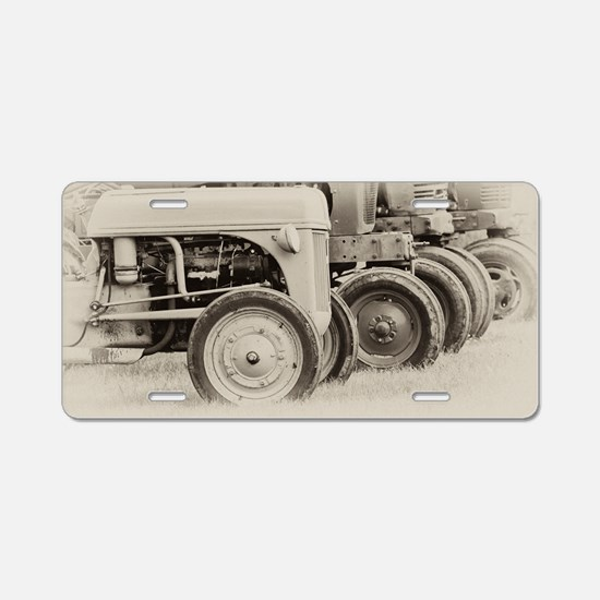 Farm Tractors Aluminum License Plate