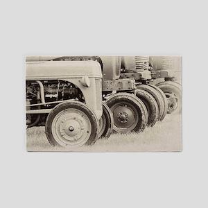 Farm Tractors Area Rug