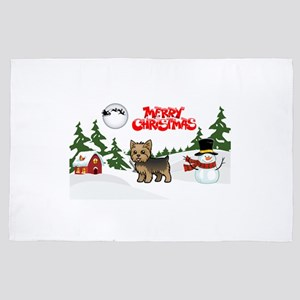 Merry Christmas Yorkie 4' x 6' Rug