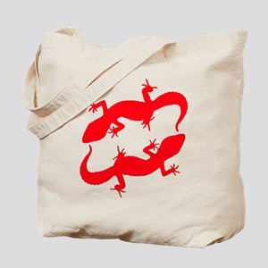 Red Leopard Geckos Tote Bag